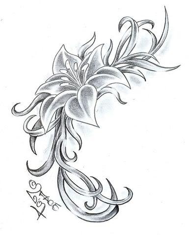 tatuaggi floreali fiori foto di disegni con pictures